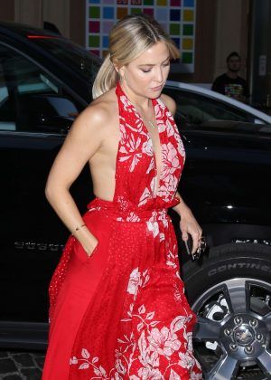 Kate Hudson in Red Dress out in New York City
