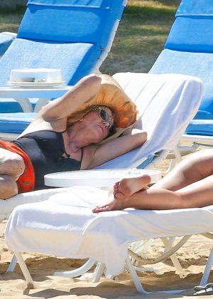 Kate Hudson in White Bikini 2016 -06