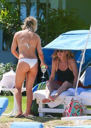 Kate Hudson in White Bikini 2016 -07