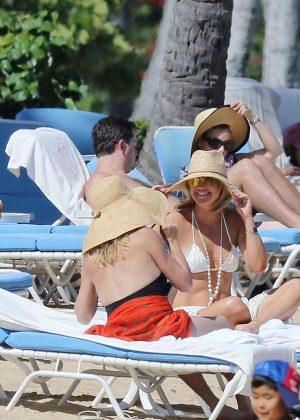 Kate Hudson in White Bikini 2016 -11