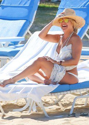 Kate Hudson in White Bikini 2016 -18
