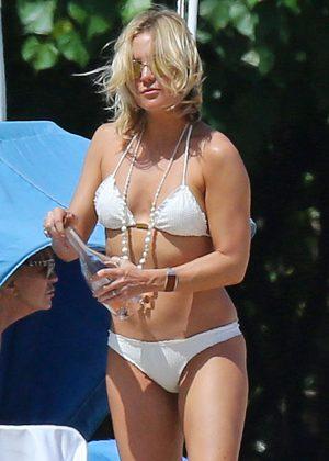 Kate Hudson in White Bikini 2016 -22