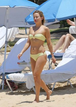 Kate Hudson in Yellow Bikini in Hawaii