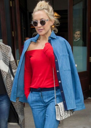 Kate Hudson - Leaves Hotel in NY
