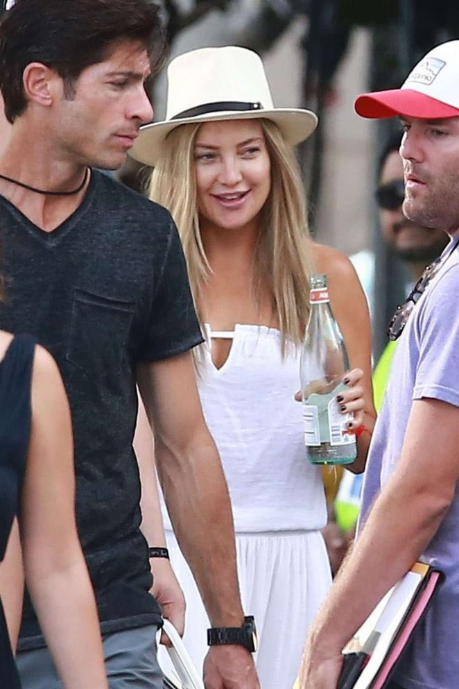 Kate Hudson on the set of Sias new project in Los Angeles -12
