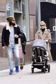 Kate Hudson with her family out in Soho