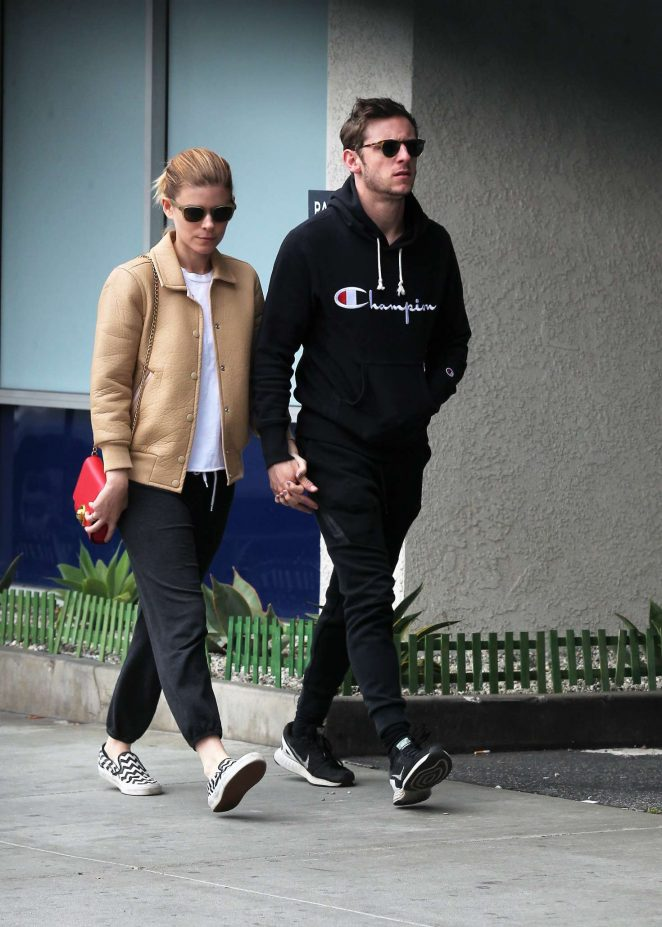 Kate Mara and Jamie Bell out for lunch in Los Feliz