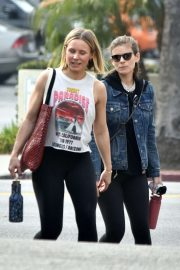 Kate Mara and Kristen Bell - Hit the gym together in Los Felize