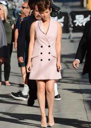 Kate Mara - Arriving at 'Jimmy Kimmel Live' in Hollywood