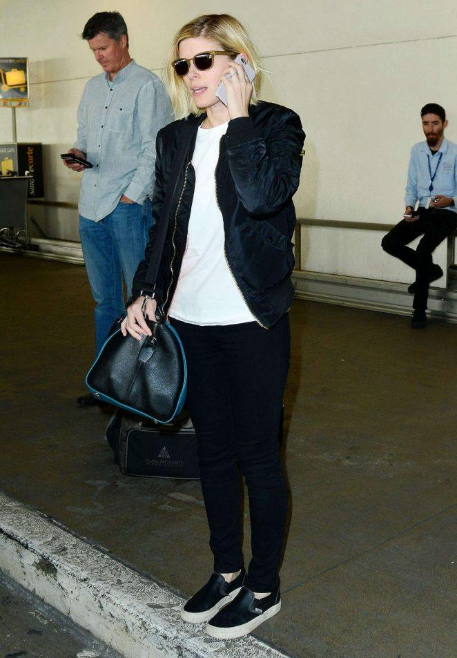 Kate Mara: Arriving at Los Angeles International Airport -05