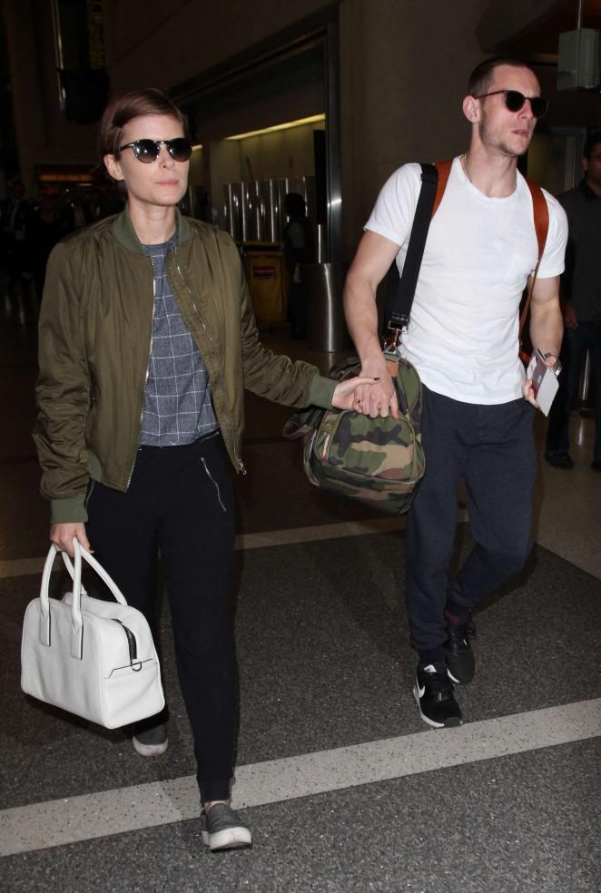 Kate Mara at Los Angeles International Airport