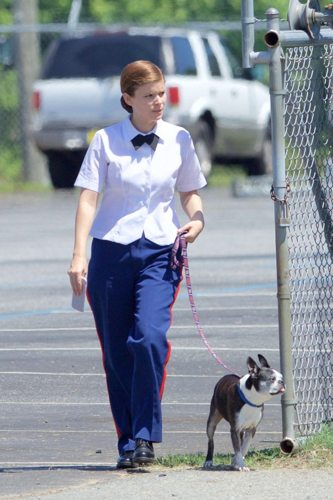 Kate Mara - Filming 'Leavey' in Atlanta