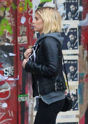 Kate Mara in Black Jeans out in NY
