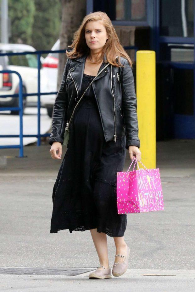 Kate Mara in Black Long Dress -03