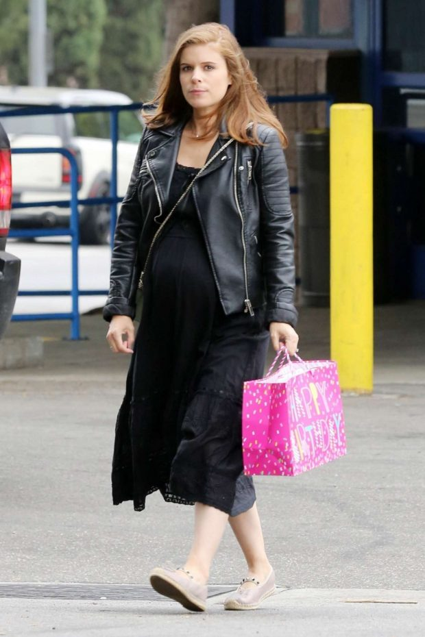 Kate Mara in Black Long Dress -06