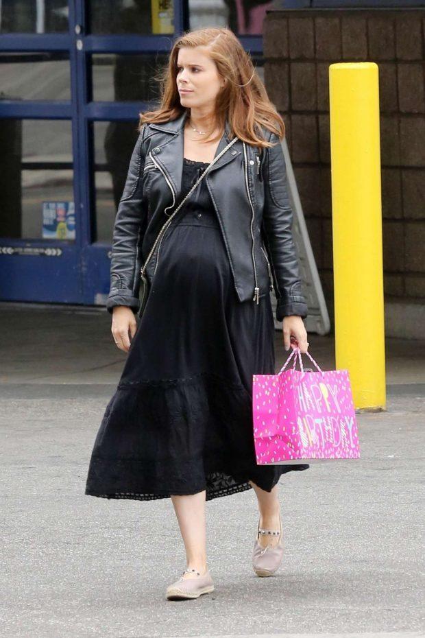 Kate Mara in Black Long Dress - Out in Los Angeles