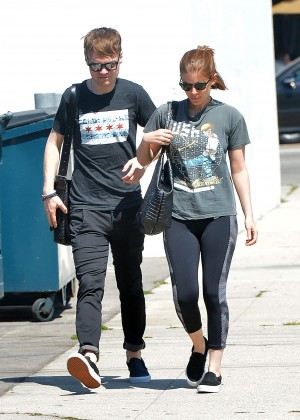 Kate Mara in Leggings Out in LA