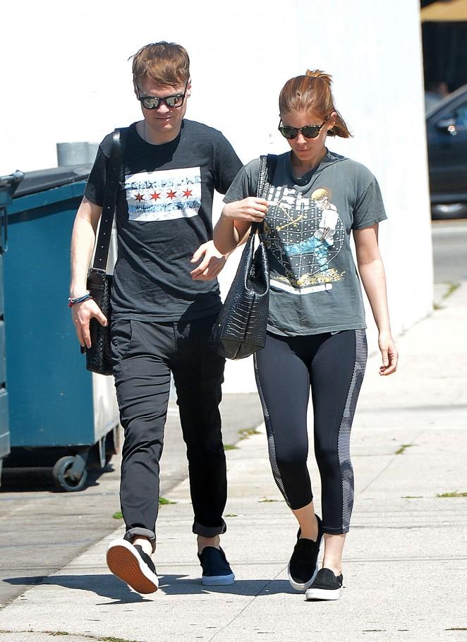 Kate Mara in Leggings Out in LA