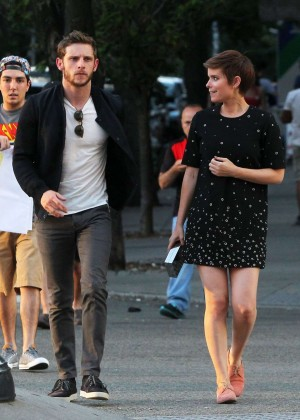 Kate Mara in Mini Dress Out in NY