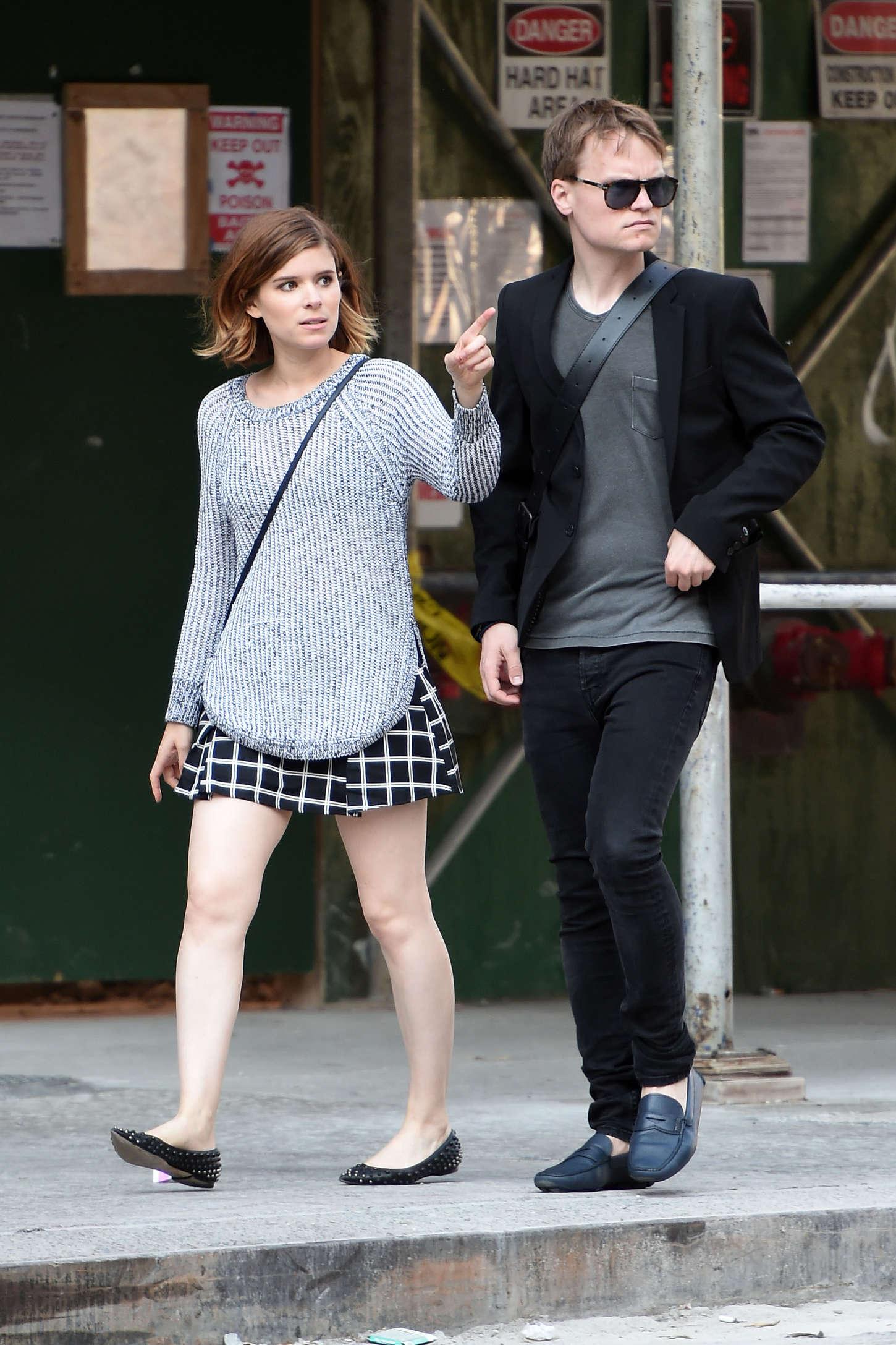Kate Mara in Mini Skirt Out in NYC