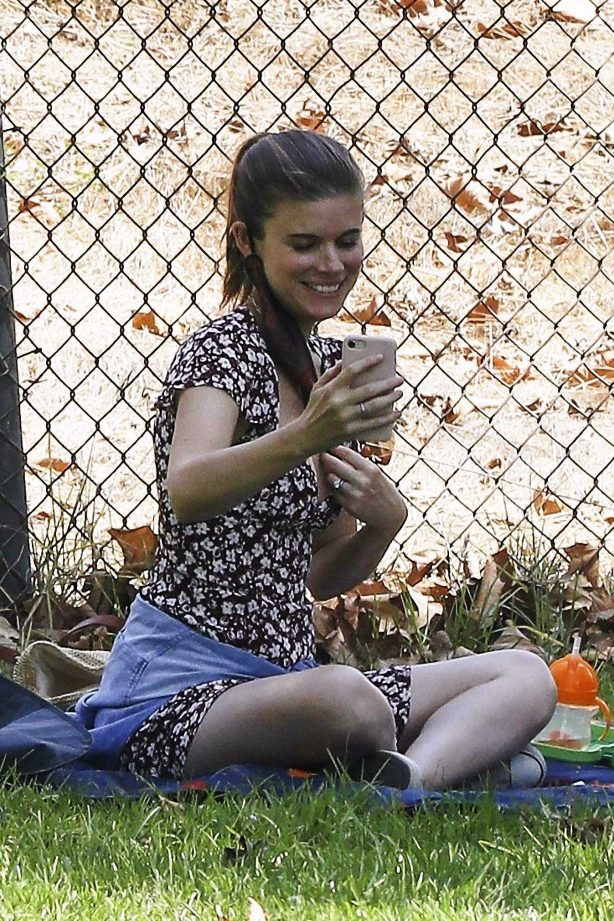 Kate Mara - In summer dress at a park in Los Angeles