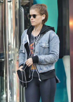 Kate Mara in Tights Shopping in London