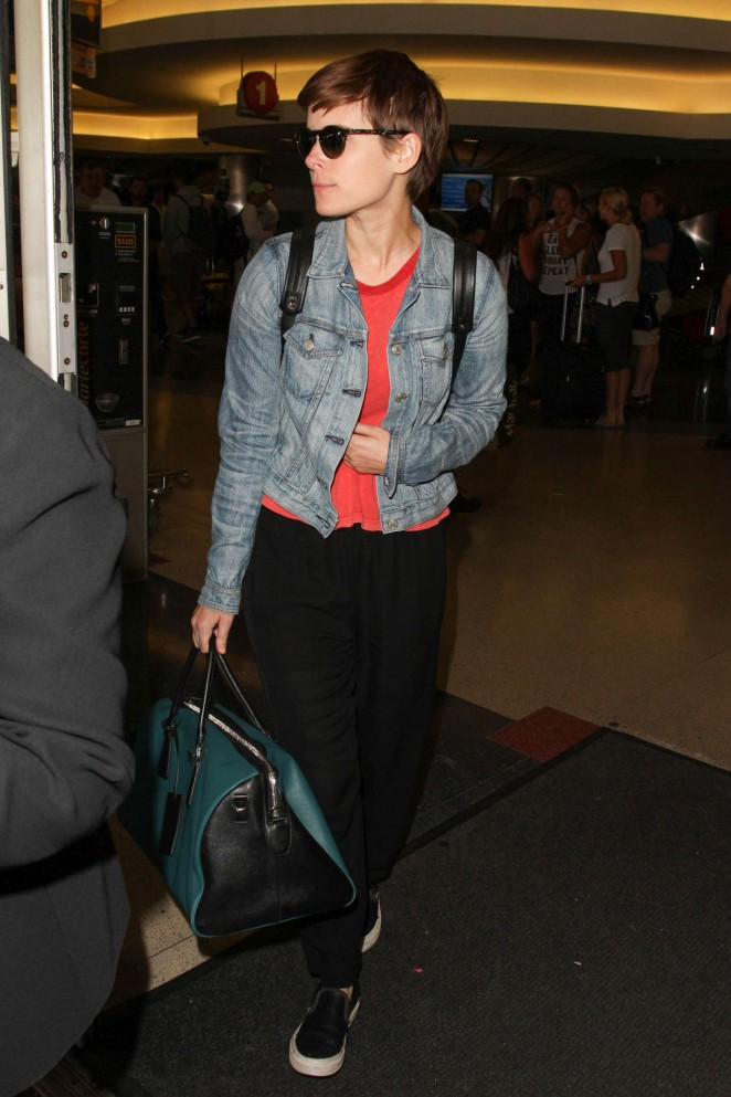 Kate Mara - LAX Airport in Los Angeles