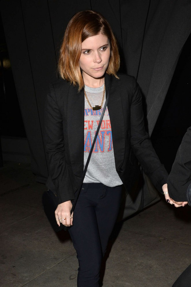 Kate Mara - Leaves Craig's Restaurant in West Hollywood