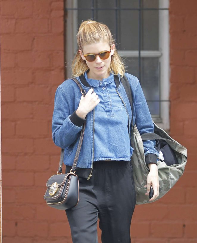 Kate Mara Leaves her dance class in Los Angeles