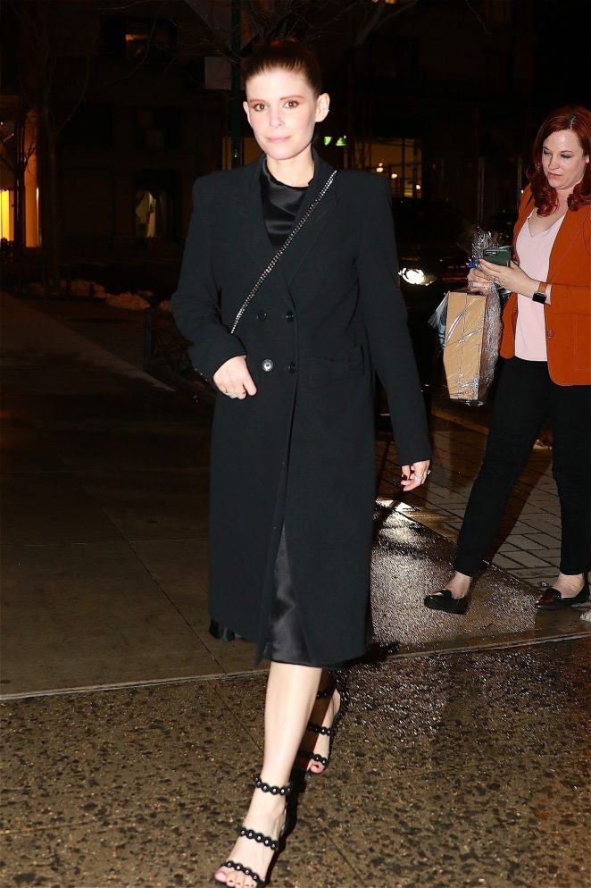 Kate Mara - Leaving dinner at ABC Kitchen in NYC