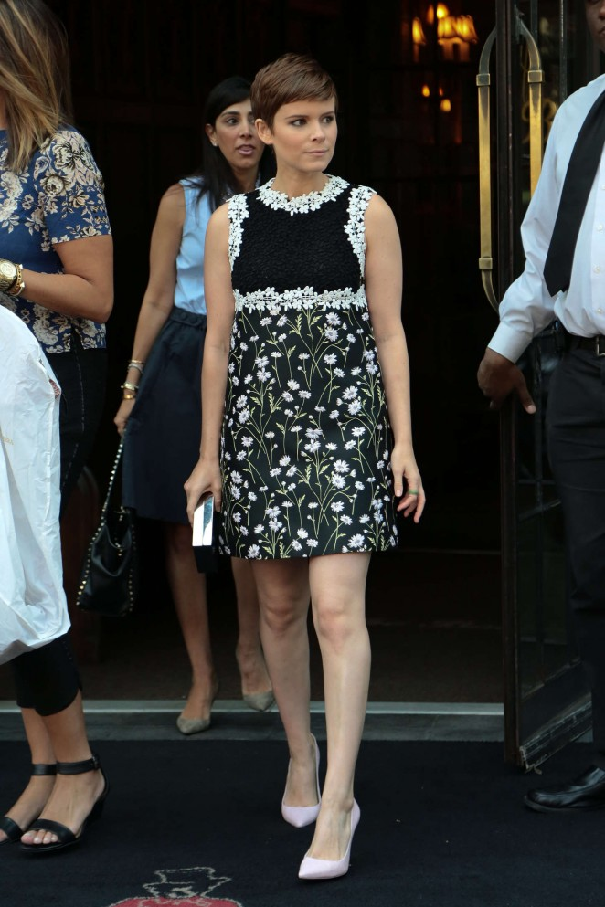 Kate Mara - Leaving her hotel in New York