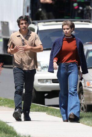 Kate Mara - on set with Chris Messina in Hartford