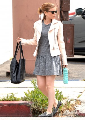 Kate Mara in Mini Dress Out in Los Angeles