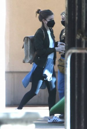 Kate Mara - Out with her daughter in Silverlake