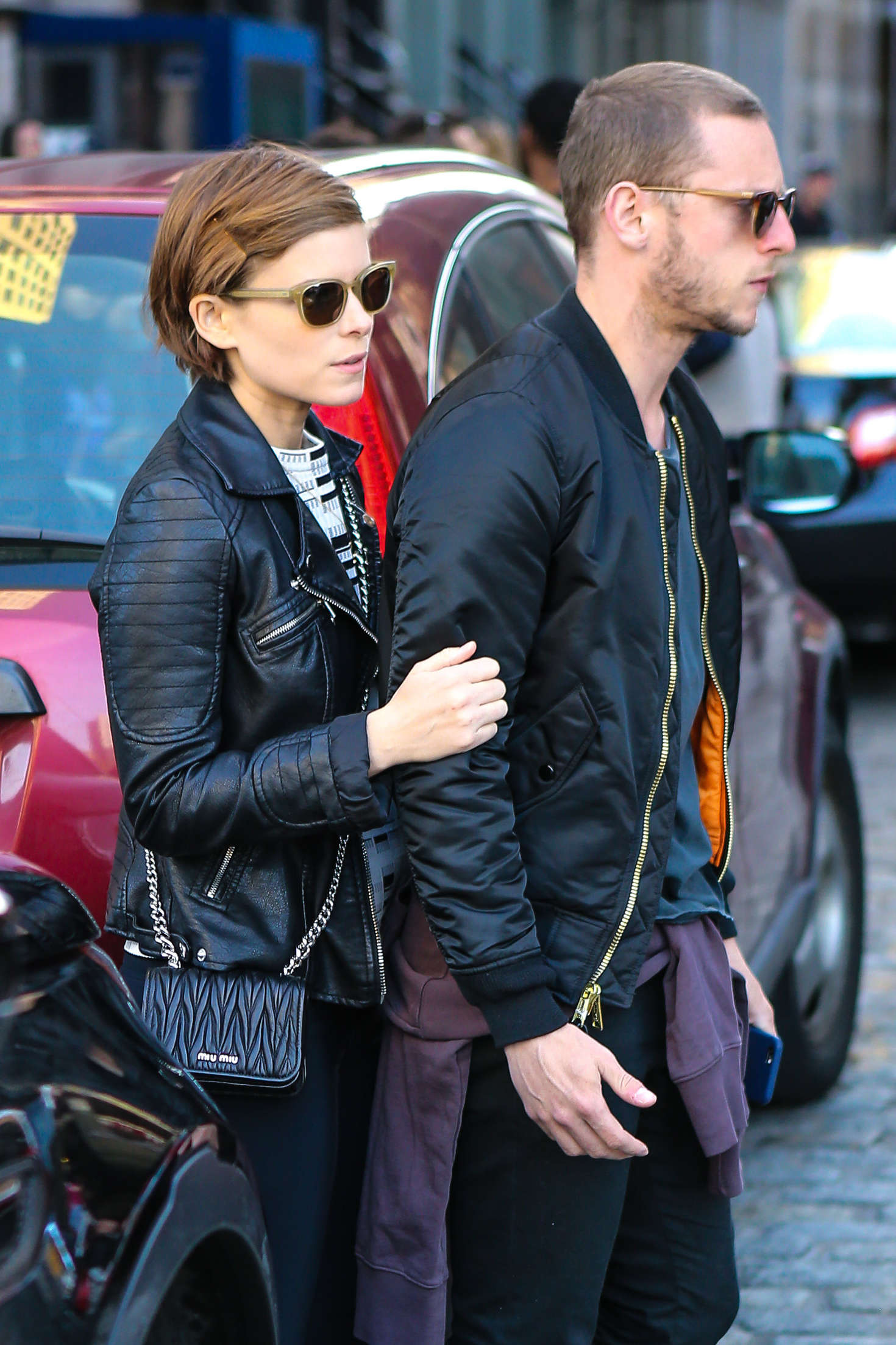 Kate Mara with boyfriend out in New York City