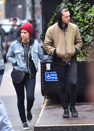 Kate Mara with boyfriend out in Soho