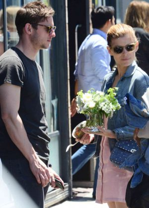 Kate Mara with boyfriend out in Venice