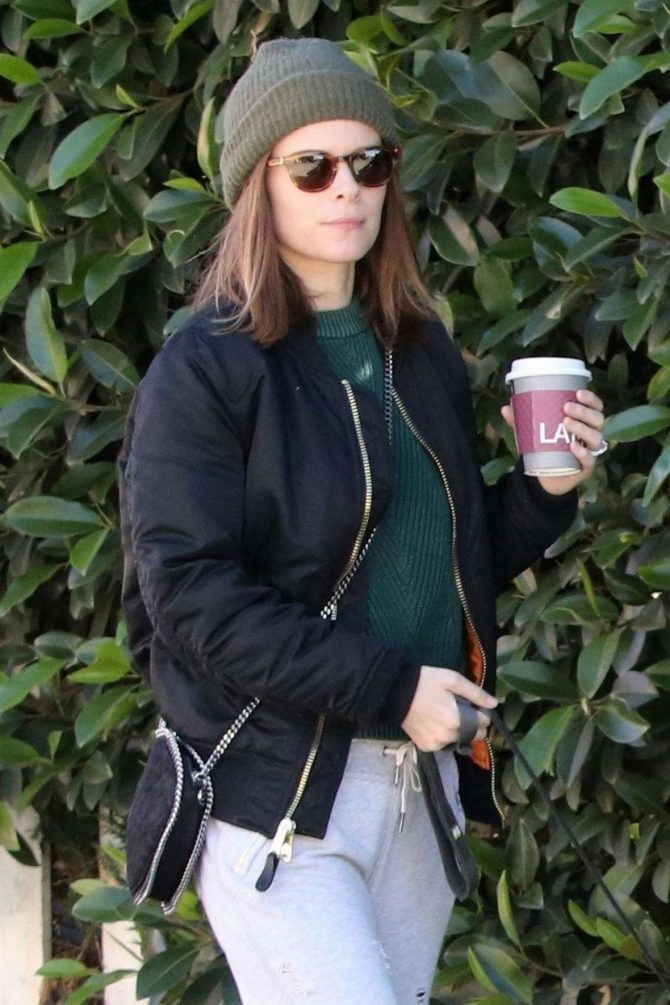 Kate Mara - With Her Dogs in Los Angeles