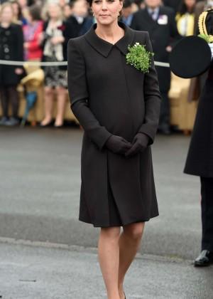 Kate Middleton - 2015 St Patrick's Day Parade in Aldershot