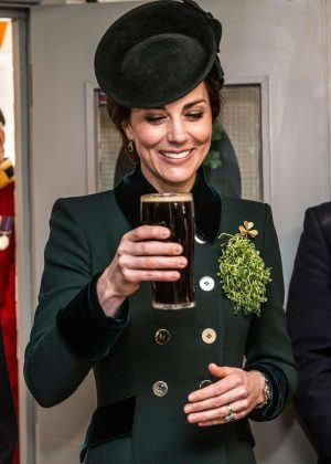 Kate Middleton - 2017 Annual Irish Guards St Patrick's Day Parade in London
