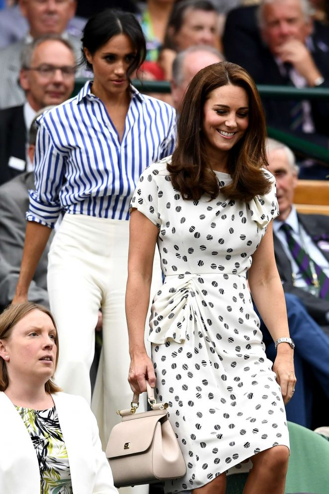 Kate Middleton and Meghan Markle - 2018 Wimbledon Tennis Championships in London