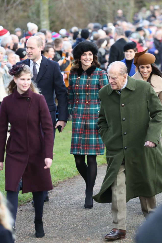 Kate Middleton and Meghan Markle - Christmas Day Church Service -03 ...