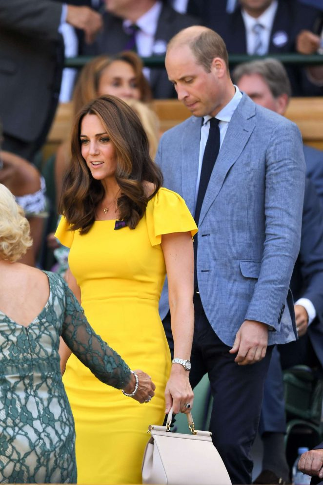 Kate Middleton and Prince William - 2018 Wimbledon Tennis Championships in London