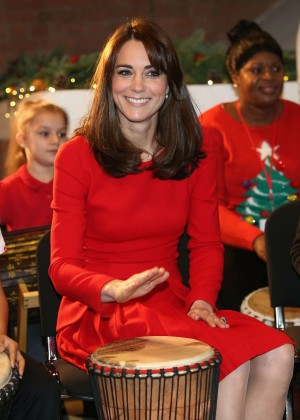 Kate Middleton - Anna Freud Centre Family School Christmas Party in London