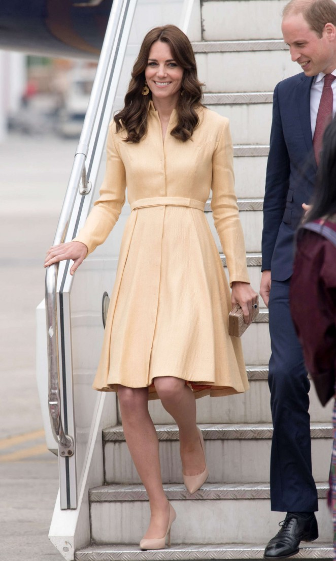 Kate Middleton - Arrives at Paro International Airport in Bhutan