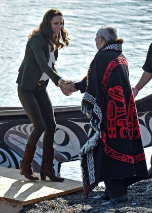 Kate Middleton - Arriving at Haida Gwaii