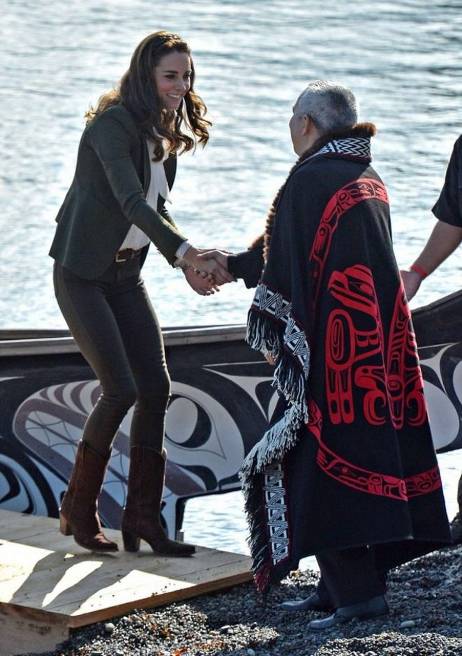 Kate Middleton - Arriving at Haida Gwaii