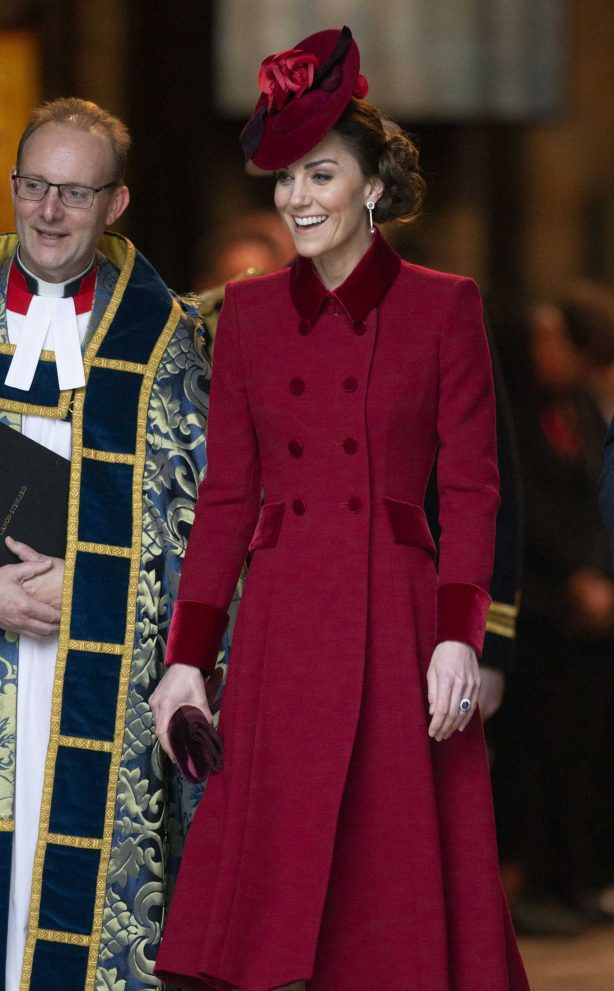 Kate Middleton - Arriving at the Commonwealth Service at Westminster Abbey