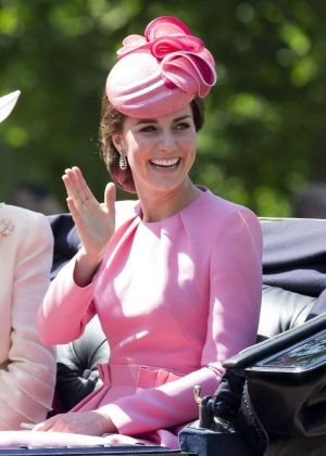 Kate Middleton at 2017 Annual Trooping The Colour Parade in London