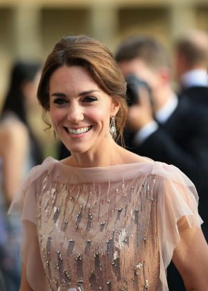Kate Middleton at a gala dinner at Houghton Hall in King's Lynn in England